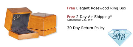 Free Beechwood/Rosewood Jewelry Box. Free 2-Day Air Shipping.