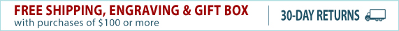 Free Shipping, Engraving & Gift Box on purchases over $100. Plus 30-Day Returns.