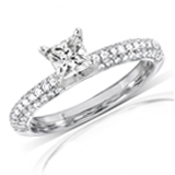 Princess Cut Diamond Enagement Rings