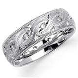 Carved Wedding Bands Image