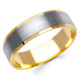 Two Tone Wedding Bands Image