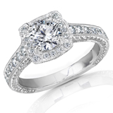 Engagement Rings With Diamond Sidestones
