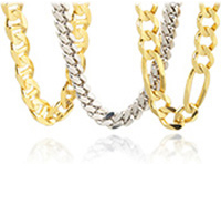 GoldenMine Jewelry Gold Chains Rings Necklaces for Men Women