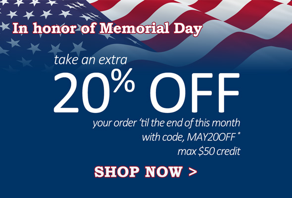 20% Off Memorial Day Sale details from GoldenMine. Code: MAY20OFF.
