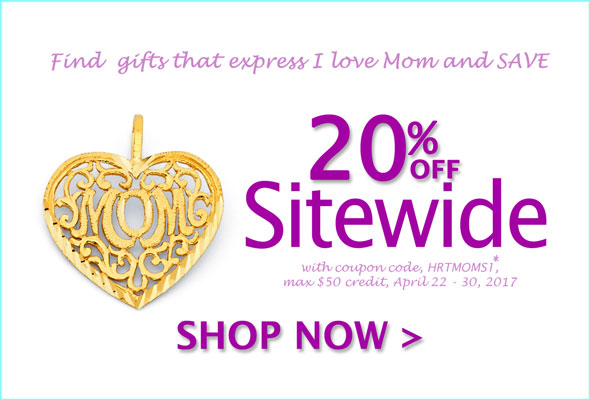 Save 20% Off Sitewide with coupon code, HRTMOMS1*. max $50 credit. Shop Now >