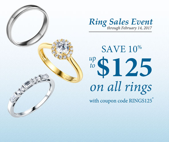 Ring Sales Event | Save 10% up to $125 off on all rings with coupon code, RINGS125*