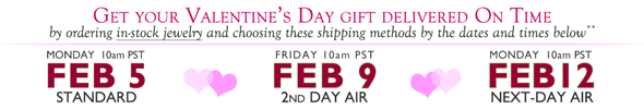 Valetine's Day Shipping Deadlines