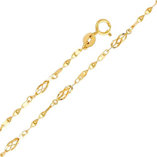 Twining Designer Womens 14K Yellow Gold Bracelet
