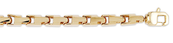 14k Yellow Gold Square Bullet Link Chain