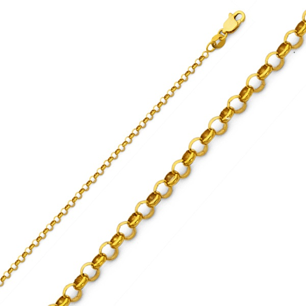 prices chains at chain yellow gold rolo hollow discounted