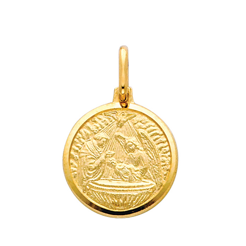 Click here for 14K Yellow Gold Baptism Pendant prices