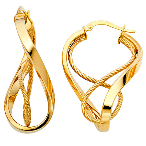 14K Yellow Gold 3mm Twisted Rope Design