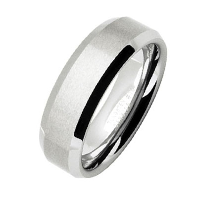 Tungsten Carbide Satin Finish Ring