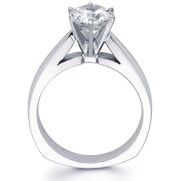 14k Round Diamond Cathedral Set Solitaire Engagement Ring 0 20 1 50 Ct Goldenmine