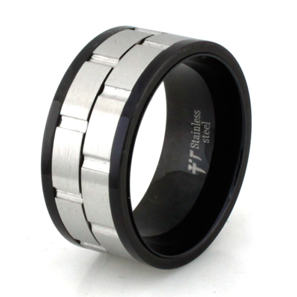 Two-Tone Spinner Stainless Steel Ring