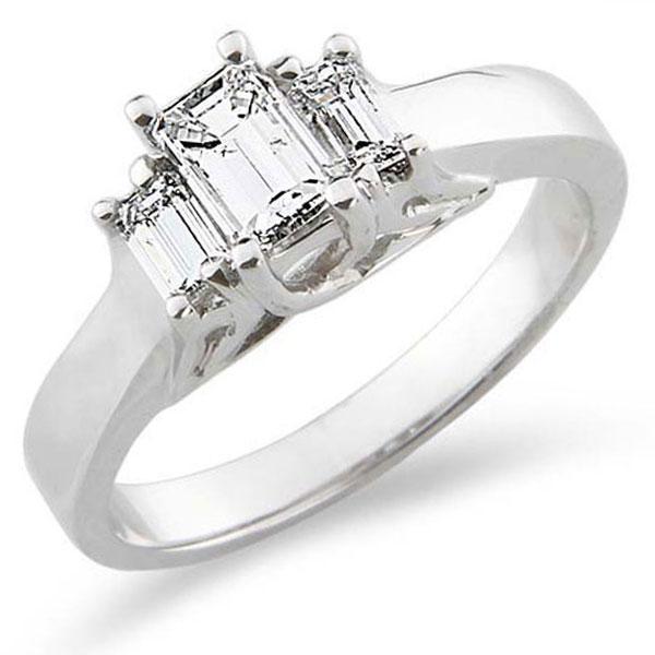 3 Stone Diamond Engagement Ring 0.75 ctw
