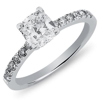 14K Round Cut Nouveau Engagement Ring 1.25 ctw