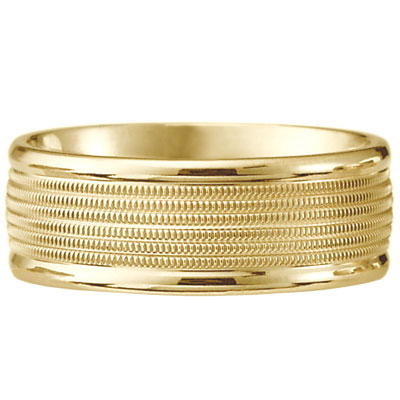 Click here for 14k Yellow Gold Milgrain Wedding Ring prices