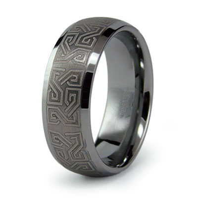 Men's wedding bands are no long simple, plain gold or white gold bands