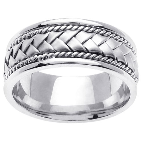 Images Product Rings Rl133 Hand Braided Wedding Band 14k White Gold JsessionidFC08C82519945168EAF8B81806BE53AF