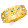 14K Yellow Gold Diamond Couple Ring for Ladies (0.40Ct)