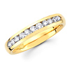 11 Channel Set Diamond 14Kt Yellow Gold Wedding Band