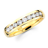 14K Yellow Gold Channel Set 9 Diamond Wedding Band