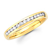 Round Diamond 14K Yellow Gold Channel Wedding Ring (0.27 ctw)