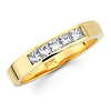 5 Stone Princess Diamond 14K Yellow Gold Wedding Band (0.47 ctw)