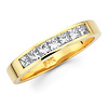 Seven Stone 14K Yellow Gold Diamond Wedding Ring