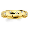 14K Yellow Gold Stagger Set Bezel Diamond Wedding Band (0.23 ctw)