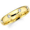 Bezel Set 14K Yellow Gold Diamond Eternity Wedding Band (0.25-0.29 ctw)