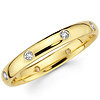 3mm 14K Yellow Gold Bezel Set Round Eternity Diamond Wedding Band