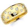 Starlight 14-Stone Round Diamond Ring in 14K Yellow Gold .29ctw