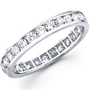 14K White Gold Channel Set Round Diamond Eternity Ring (1.07-1.19 ctw)