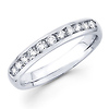14K White Gold 0.41ctw Channel Set Diamond Band