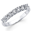 Seven Stone 14K White Gold 0.45ctw Diamond Prong Set Ring