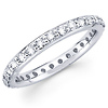14K White Gold Round Diamond Eternity Band (0.76-0.86 ctw)