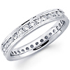 14K White Gold Milgrain Diamond Eternity Band (0.93-1.02 ctw)
