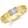 Women's Diamond 14K Two Tone Wedding Band