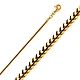 1.5mm 18K Yellow Gold Franco Chain Necklace 16-30in thumb 0