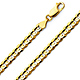 7mm 14K Yellow Gold Men's Concave Curb Cuban Link Chain Necklace 20-30in thumb 0