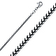 2mm 14K White Gold Franco Chain Necklace 16-30in thumb 0
