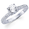 Classic 14K White Gold Channel Set Diamond Engagement Ring
