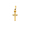 Mini Cross Charm Pendant in 14K Yellow Gold