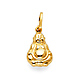 Happy Laughing God Hotei Buddha Pendant in 14K Yellow Gold - Petite thumb 0