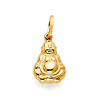 Happy Laughing God Hotei Buddha Pendant in 14K Yellow Gold - Petite
