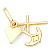 Faith, Hope & Charity Charm Pendant in 14K Yellow Gold - Mini