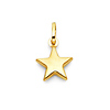 14K Yellow Gold Small Star Charm Pendant