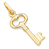 Figure 8 Antique-Style Key Pendant in 14K Yellow Gold - Petite